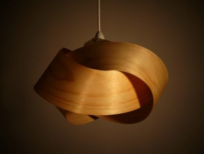 Wood veneer light shade - Twist