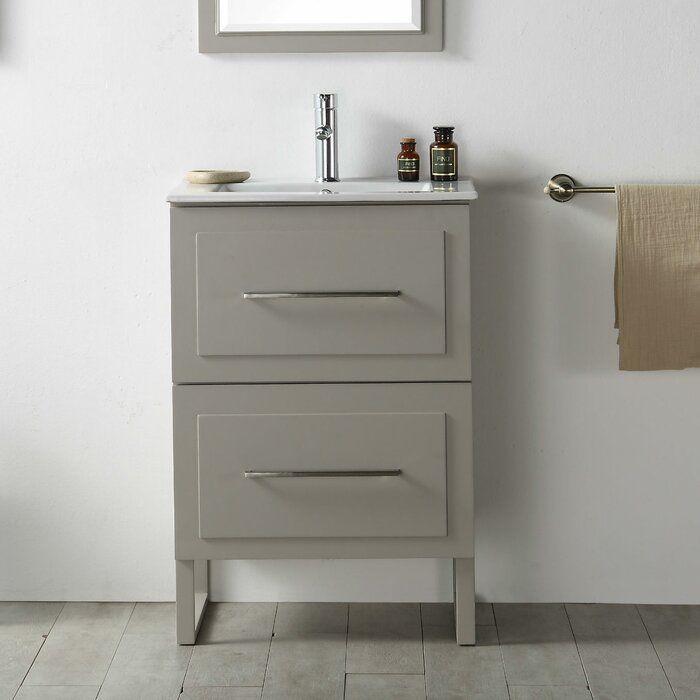 Maite 24 Single Bathroom Vanity Set 24 Inch Bathroom Vanity