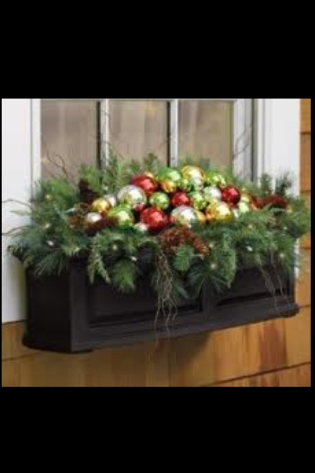 Christmas Ornament Window Box