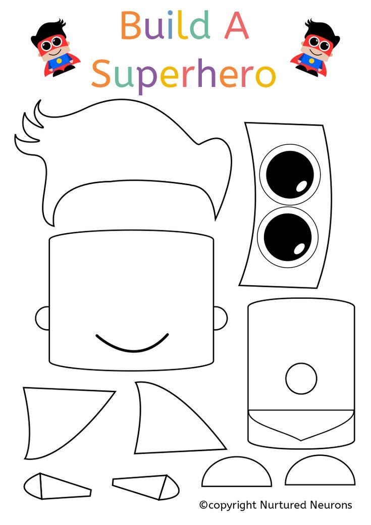 Build A Superhero Craft (Super Preschool Printable