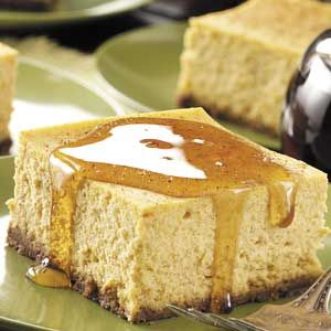Pumpkin Cheesecake Dessert Recipe from Taste of Home -- shared by Cathy Hall of Phoenix, Arizona