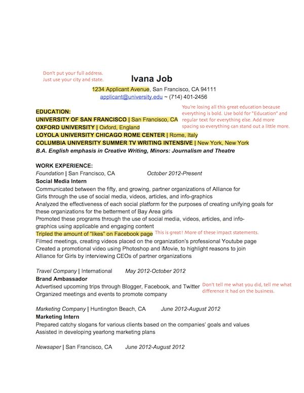 A resume template for every recent college grad currently looking - student ambassador resume