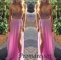 #promdress01 prom dresses - 2015 sweetheart neckline strapless long sequins chiffon side slit prom dress for teens, ball gown, occasion dress #prom2k15 #promdress -> www.promdress01.c... #coniefox #2016prom