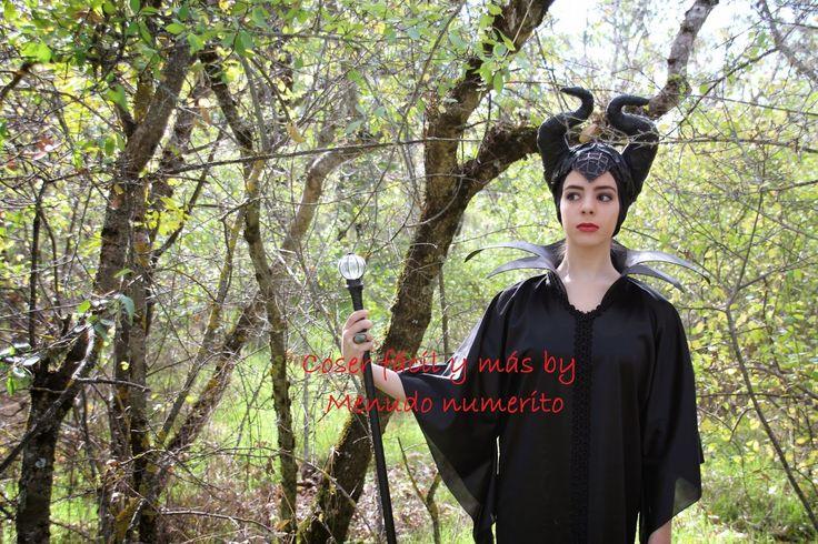 """El blog de """"Coser fácil y más by Menudo numerito"""": Cómo hacer el disfraz de Maléfica"""