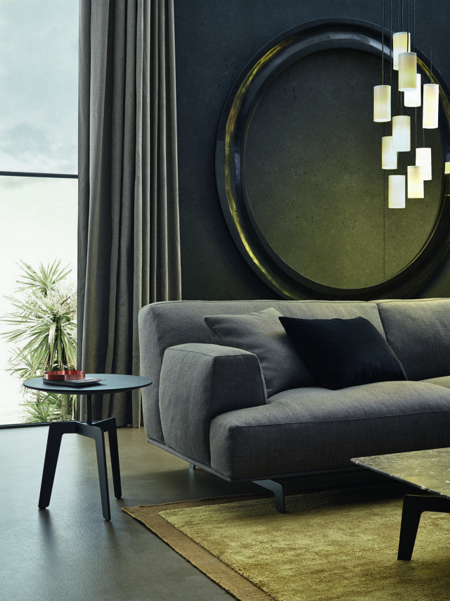 Poliform_Tribeca sofa with removable fabric covering.