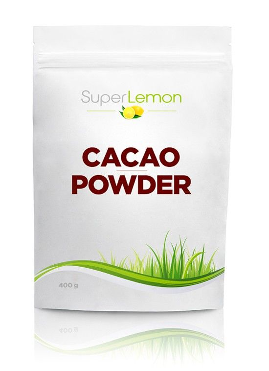 SuperLemon.fi | Tuotemerkit | SuperLemon | SuperLemon Cacao Powder 400 g | Edullinen raakakaakaojauhe