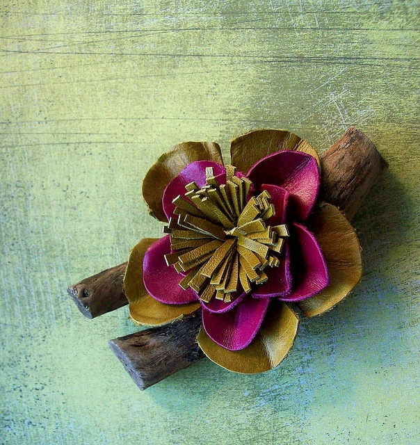 9 best leather scrap projects images on pinterest for Leather flowers for crafts