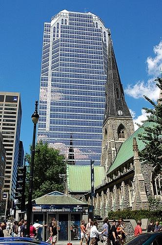 Place de la Cathedrale Montreal Quebec