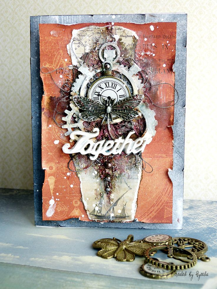 ScrapBerry's: a mixed media card by Aida (Ayeeda) with Antique Shop collection