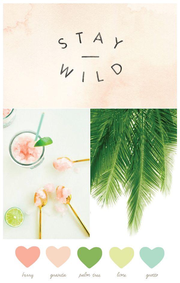 Color Palette: Granita + Palm Tree