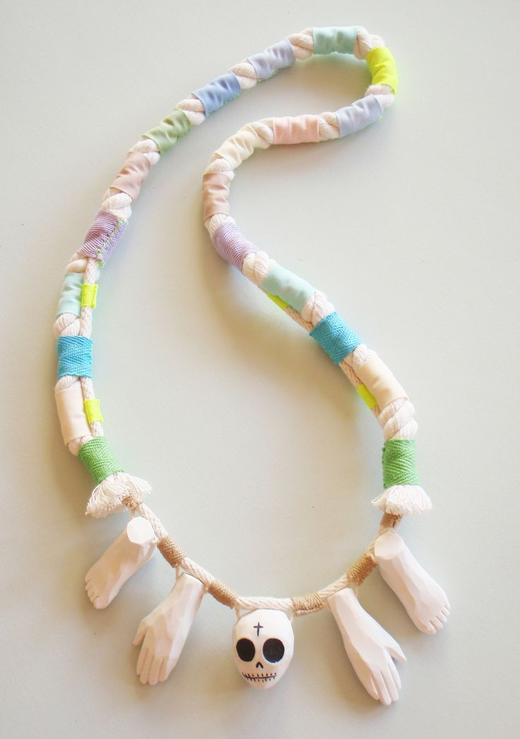 Shuh. X Georgie Cummings collaboration necklaces.
