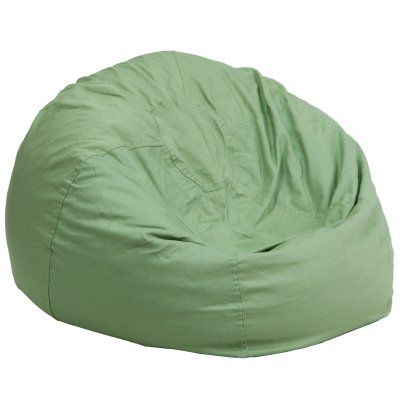 Flash Furniture Oversized Bean Bag Chair Green - DG-BEAN-LARGE-SOLID-GRN-GG