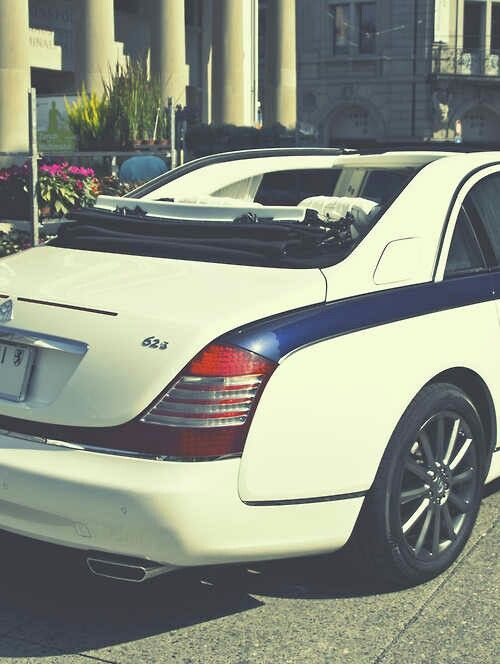 Maybach Landaulet Semi Convertible, Aka My Wedding Car.