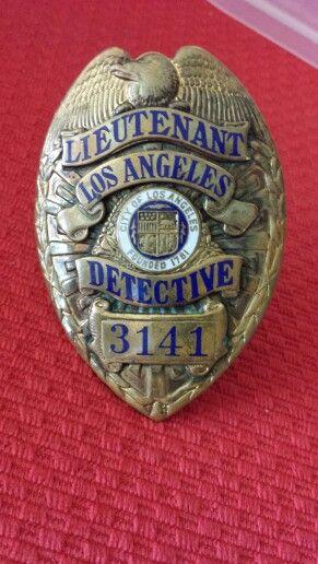 1930s LAPD badge.