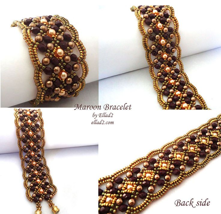 Beading Tutorial Material you need: - Fire-polished beads 4mm, - Pearls 4 mm (2 colors), - Miyuki seed beads 11/0 and 15/0, - clasp, - FireLine 6lb smoke or Nymo thread D - Beading needle size 12