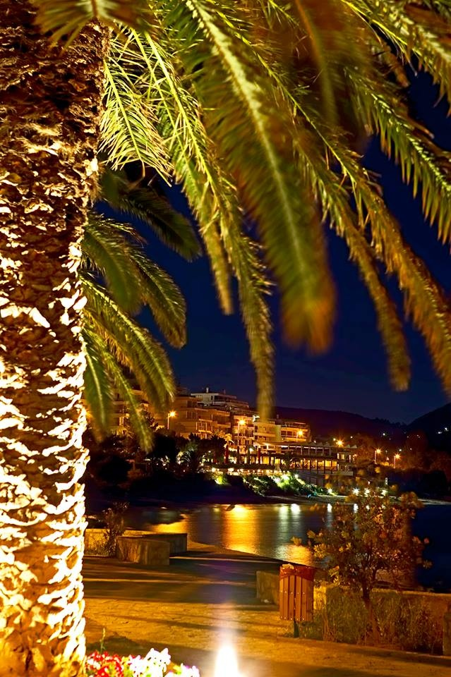 Vouliagmeni by Night,Athens, Greece