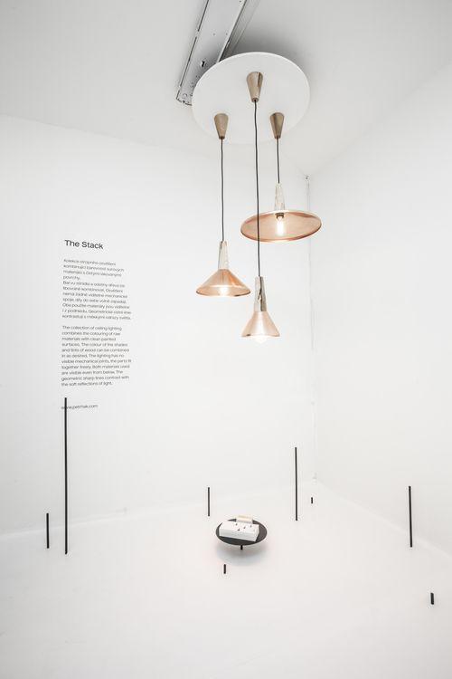 instalation of pendant lights - The Stack DesignBlok Prague 2014 by Petr Hák www.petrhak.com