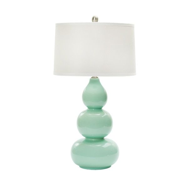28-inch Mint Green Ceramic Table Lamp