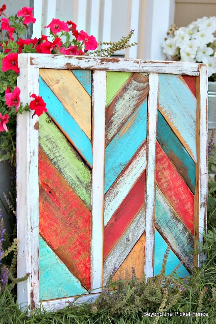 Diy garden wall art - Reclaimed Wood Art Http Bec4 Beyondthepicketfence Blogspot Com 2014
