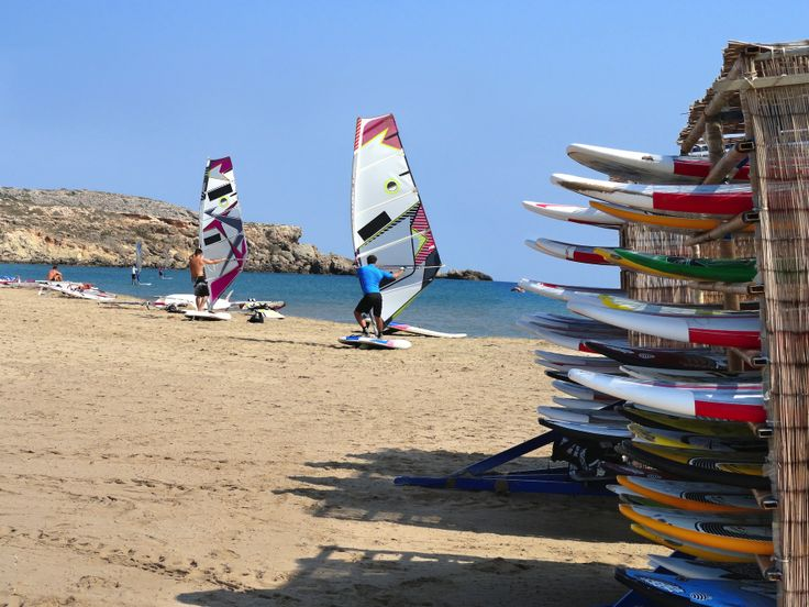 Preparing for a windsurf session