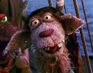 Clueless Morgan looking confused in Muppet Treasure Island.