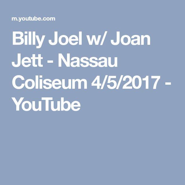 Billy Joel w/ Joan Jett - Nassau Coliseum 4/5/2017 - YouTube