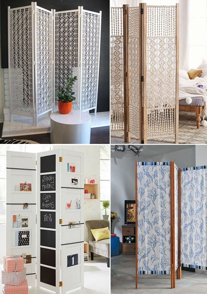 O loft e outros ambientes sem paredes podem ficar muito modernos com a utilização de biombos! Veja como usá-los na decoração: http://comprandomeuape.com.br/2016/05/como-usar-biombo-na-decoracao.html