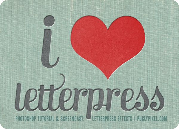 making photoshop look like letterpress.
