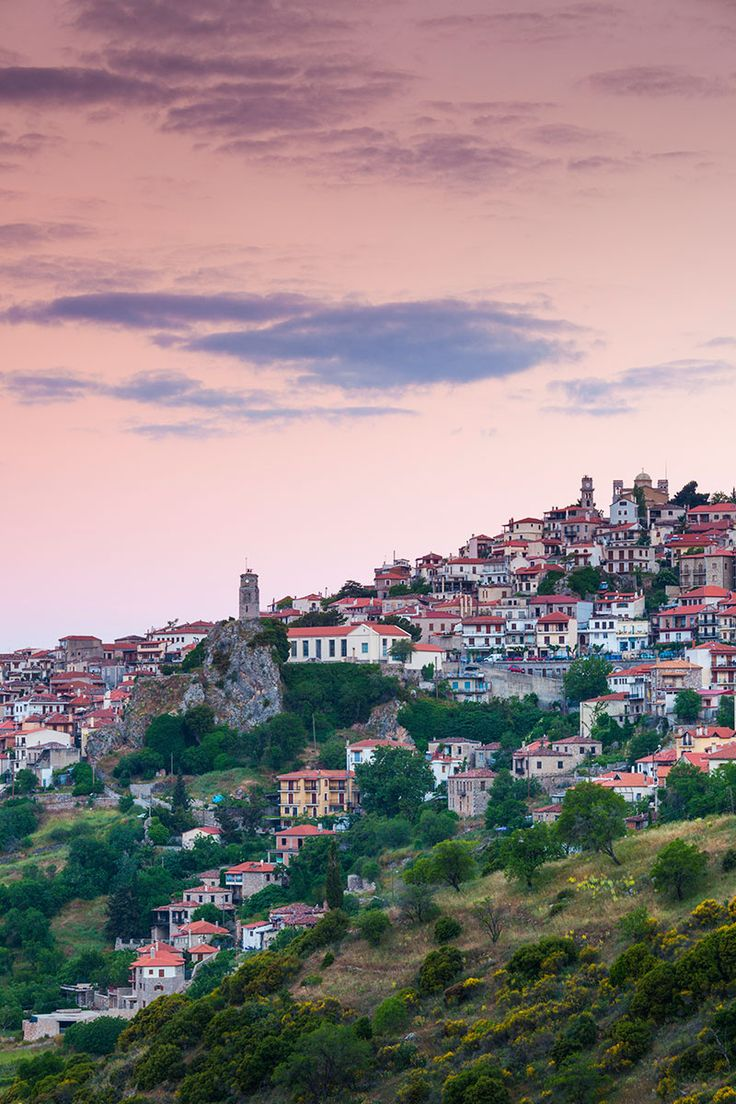 Arachova, a mountain town in Greece near Delphi, the site of the ancient oracle