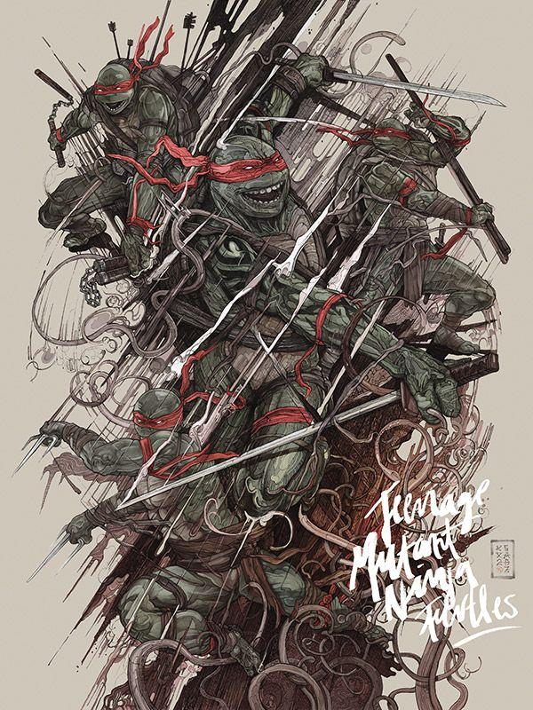 Tennage Mutant Ninja Turtles illustration by Gabz