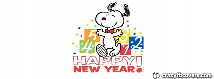 Snoopy Happy New Year Facebook Cover Facebook Timeline Cover