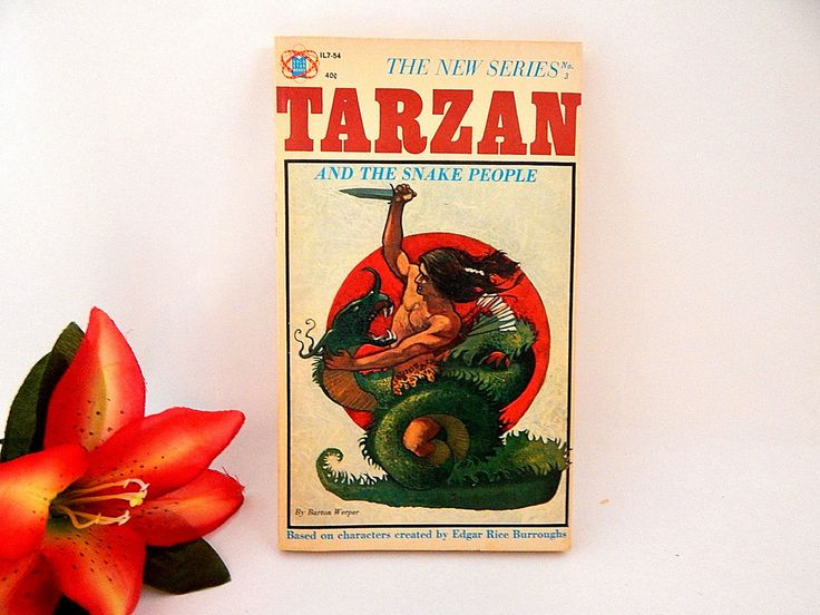Tarzan and the Snake People Book RARE Unauthorized Gold Star New Tarzan Series Book 3 1964 Vintage Paperback Collectible