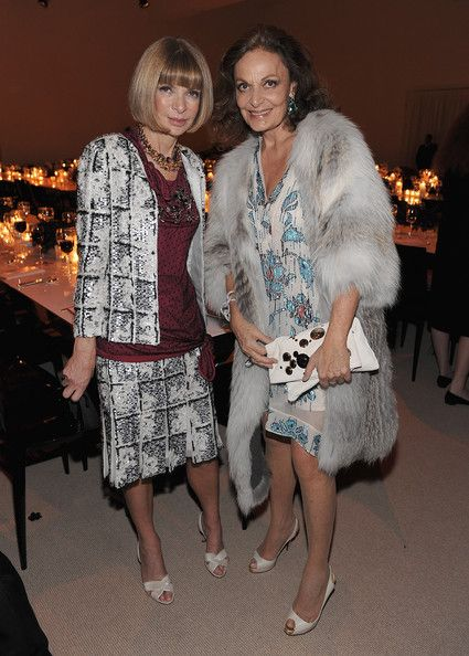 Anna Wintour and designer Diane Von Furstenberg attend The CFDA/Vogue Fashion Fund Awards at Skylight Studio on November 16, 2009 in New York City.  Photo by Dimitrios Kambouris/Getty Images
