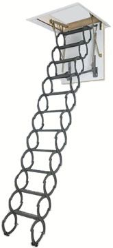lst scissors attic ladder with hatch various sizes