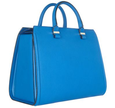 Victoria Beckham Victoria In Electric Blue: Baby Blue, Blue Purses, Beckham Th Victoria, Beckham Victoria Leather, Victoriaaa Totes, Totes Bags, Pur Fetish, Leather Totes, Bags Clutches Purses