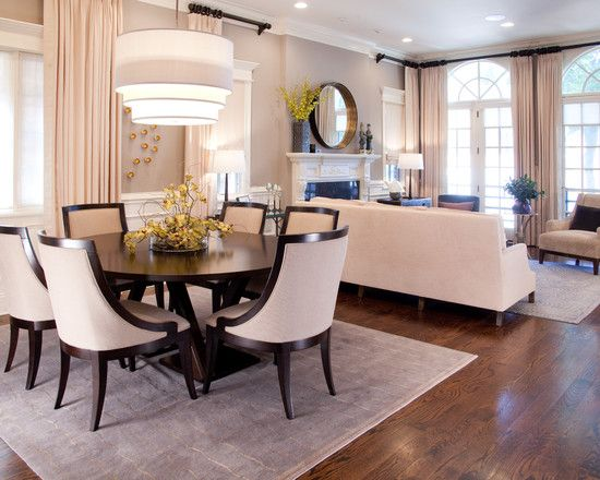 Various Pictures of Dining Room Table Centerpieces Ideas : Transitional Dining Room Oak With A Walnut Stain Dark Wooden Dining Room Table Ce...