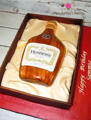 hennessy bottle cake miss ashleys bakery cakes pinterest