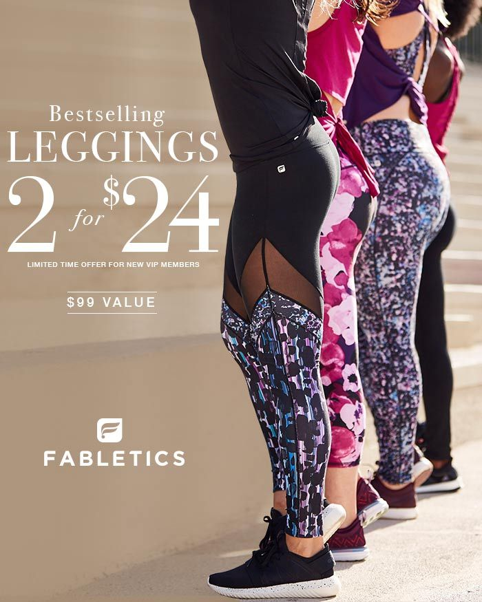 Discover casual, chic and affordable with Fabletics by Kate Hudson and find your favorite Leggings now 2 for $24 when you become a VIP Member. As a VIP, you'll enjoy a new personalized styles each month, as well as exclusive pricing, early access to sales & free shipping on orders over $49. Don't think you'll need something new every month? No problem – click 'Skip The Month' in your account by the 5th. Take our 60 second quiz to unlock this special offer!