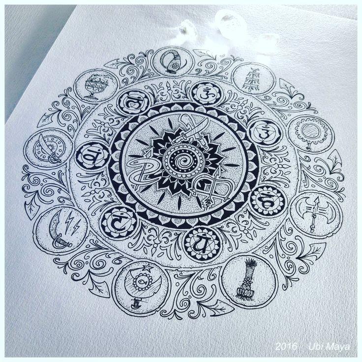 """Arte encomendada para tattoo, destino: Brasília-DF. """"OS ORIXÁS E OS CENTROS DE FORÇA"""". Encomendas/orçamentos através do e-mail: notovic@gmail.com"""