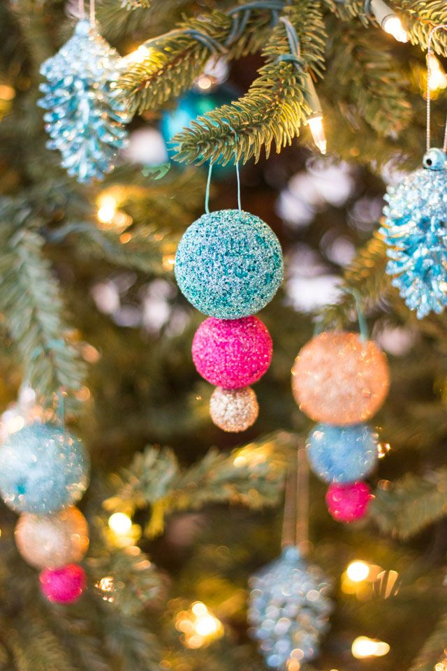 DIY Glitter Ball Ornaments | Ornament, Sample resume and