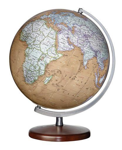 91 best desktop world globes images on pinterest world globes replogle discovery berks desktop world globe with walnut finish wood base silver toned meridian and 12 inch diameter plastic antique ocean ball gumiabroncs Images