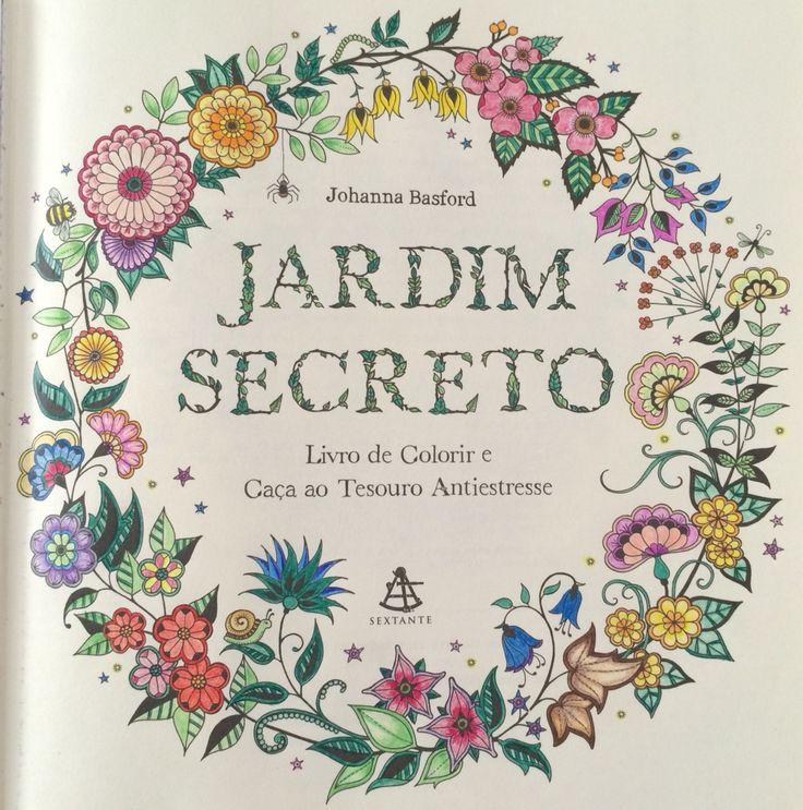 01. Jardim Secreto. Livro de Colorir.