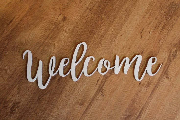 Welcome Sign, Wooden Words, Laser Cut Out, Wood Cut Out, Custom Word Art, Personalize, Footstepsinthepast by FootStepsinthePast on Etsy