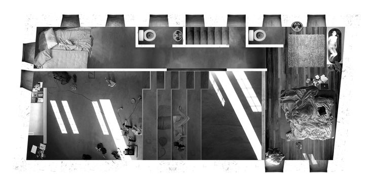 plan collage/visualisation | Amphitheater House | Aristide Antonas | Hydra, Greece | 2007