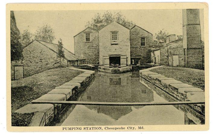 Chesapeake City Maryland MD -PUMPING STATION- Postcard | eBay