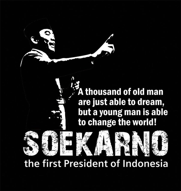 A thousand of old man are just able to Dream, but a young man is able to change the World ~ Soekarno