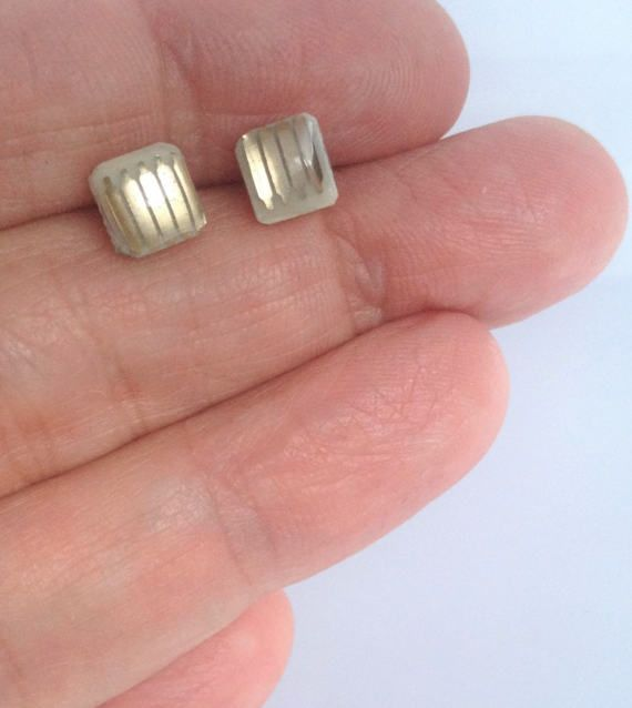 Gold Stud Earrings - JE016, Circuit Board Jewelry, Eco-friendly, Green Eco Gifts, Recycled, Techie Geek Gift, Geek Chic, Sparkly Earrings