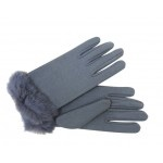 $39.95 Fur Trimmed Gloves Grey  free shipping within Australia at sterlingandhyde.com.au