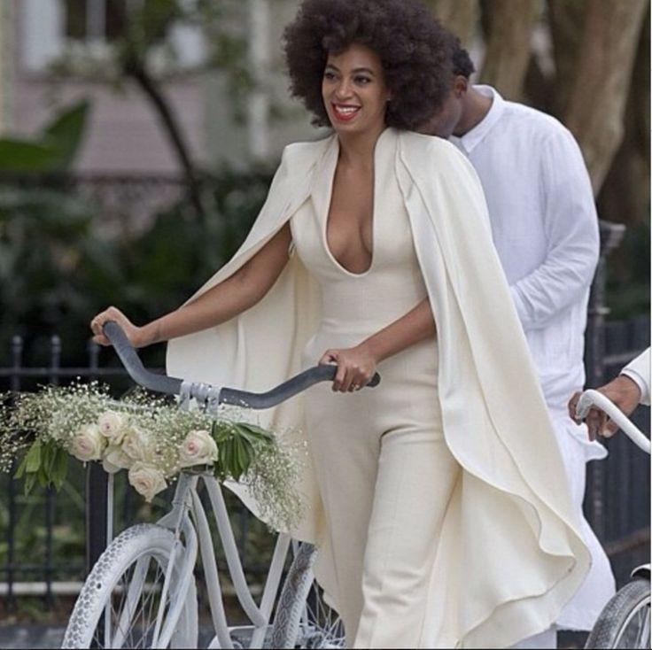Solange mariée à vélo