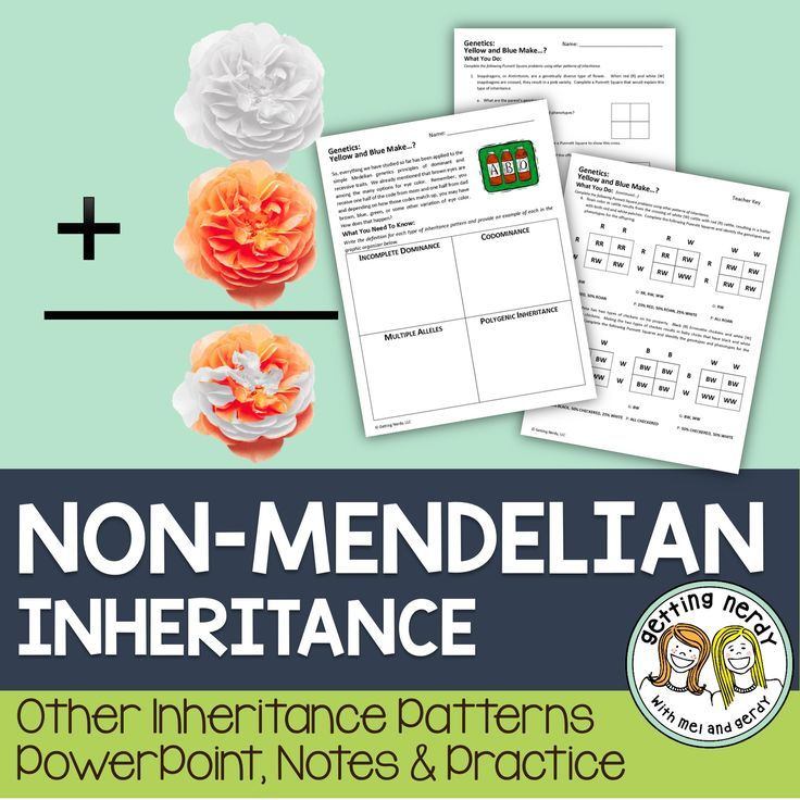 Non Mendelian Inheritance Mendelian Inheritance Life Science